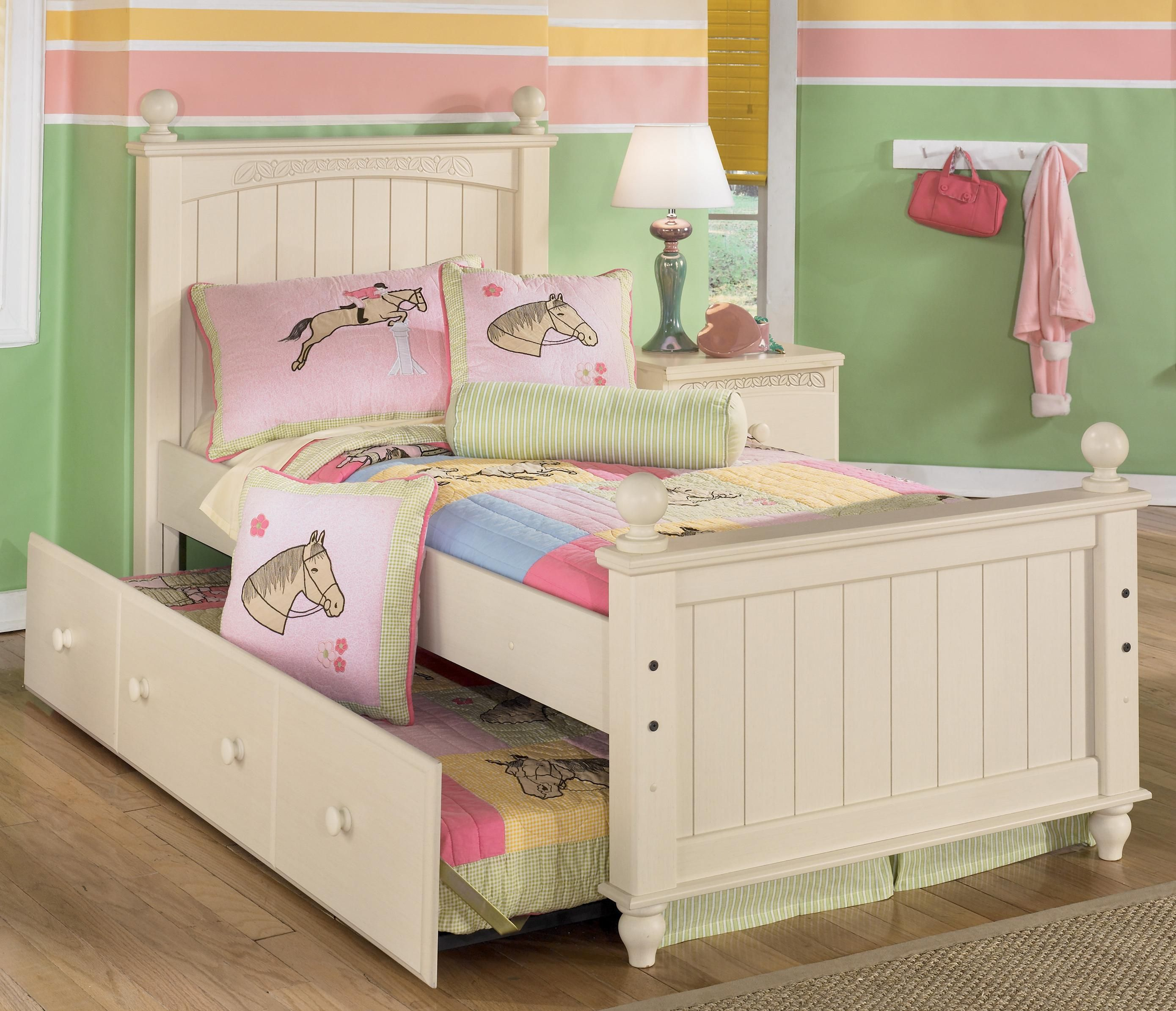 Cottage Retreat Twin Poster Bed with Trundle by Signature
