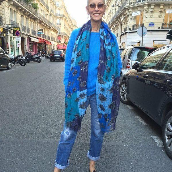 Бабушка из Парижа использует 5 модных приемов, что