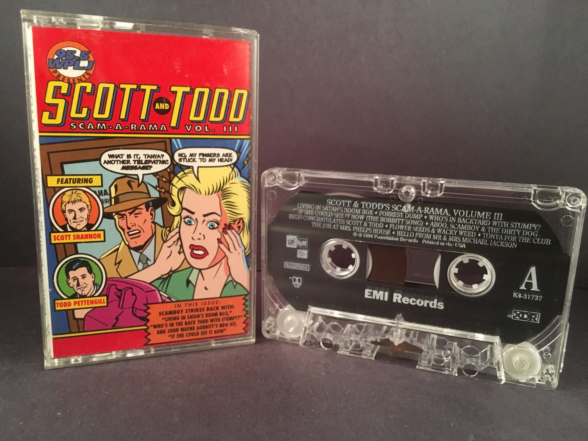 scott u0026 todd scam a rama cassette radio 95 5 plj comedy products