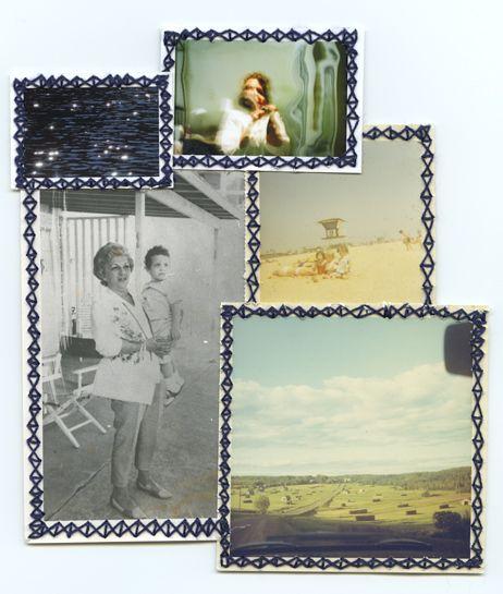 Embroidered Photos by Randi Malkin Steinberger