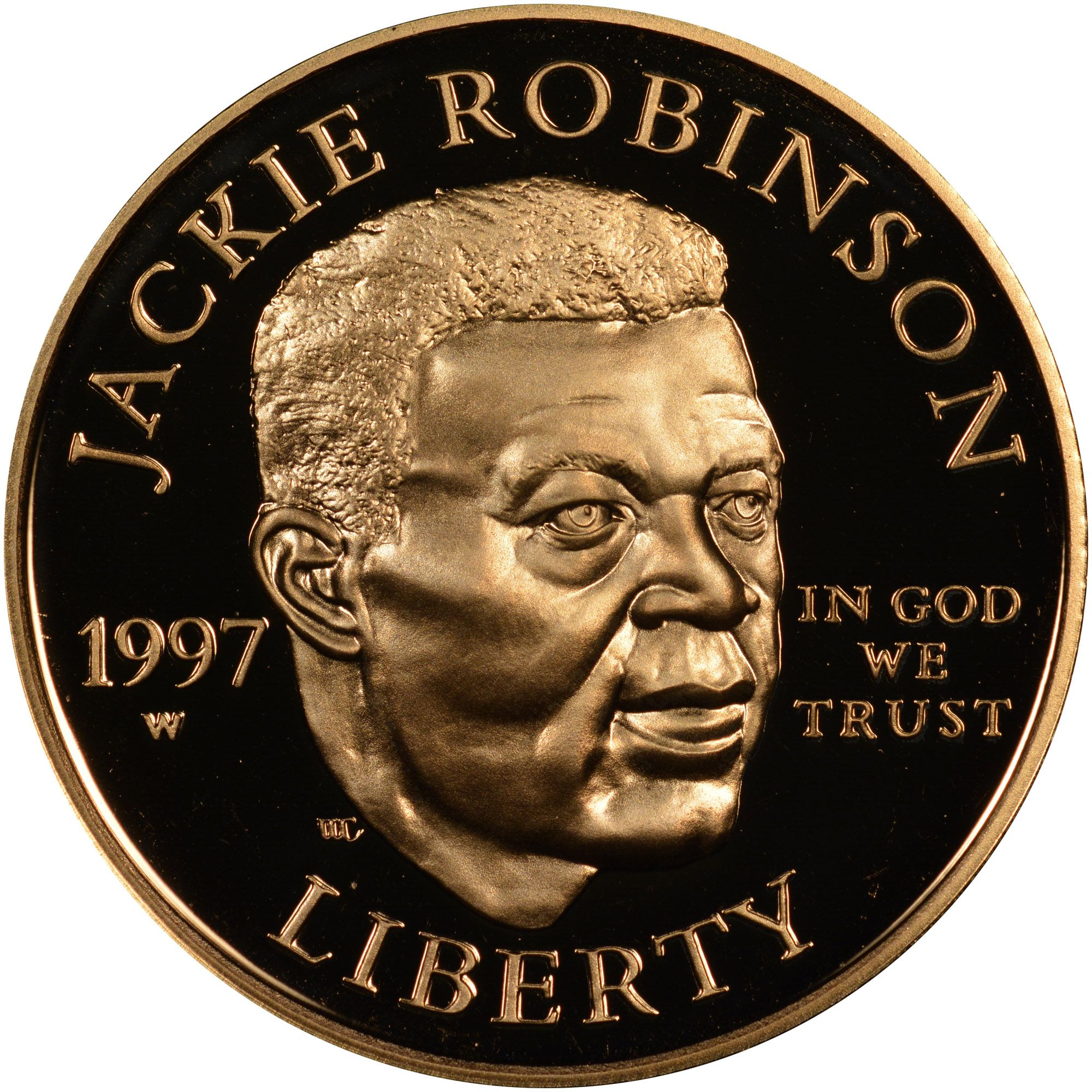 Coin Of The Day 1997 W Robinson 5 Pf Robinson Coins Jackie Robinson