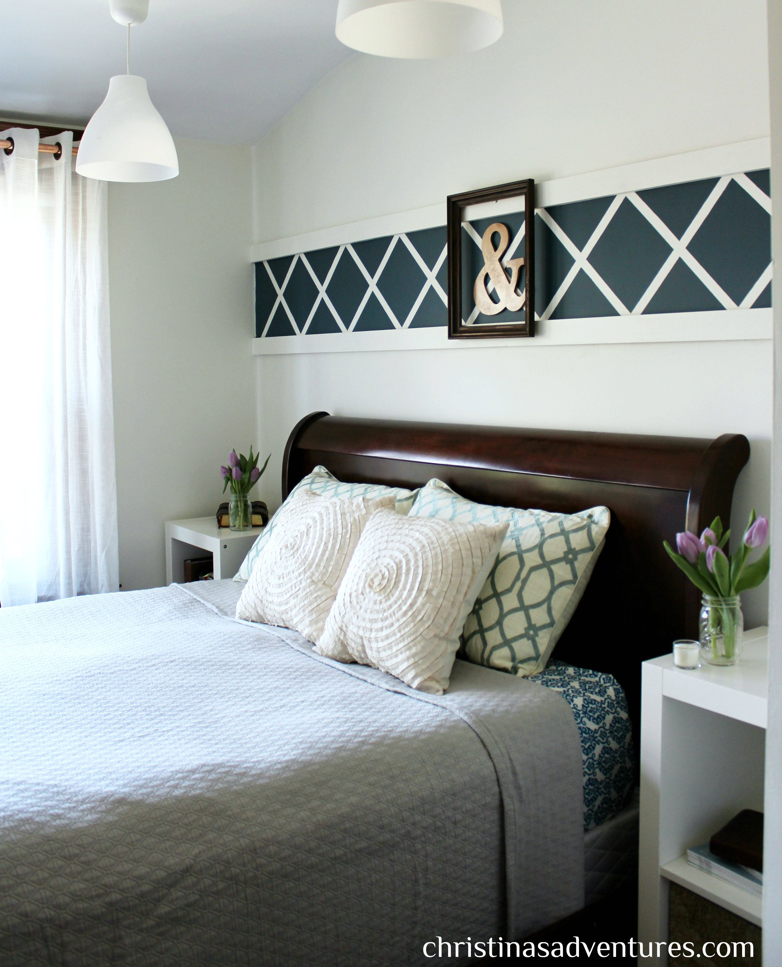 our master bedroom: above the bed decor | painters tape, learning