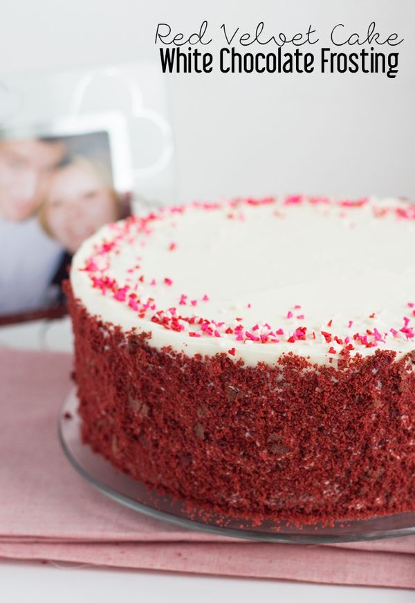 Red Velvet Cake with White Chocolate Frosting
