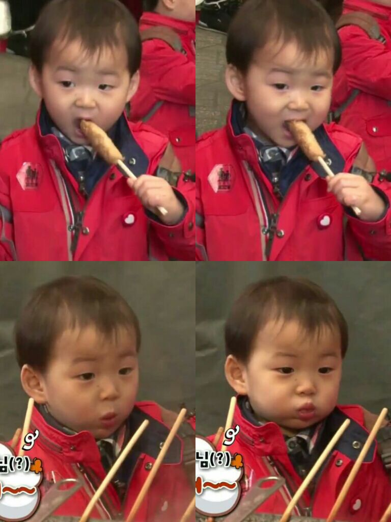 Minguk Enjoying Fish Cakes The Return Of Superman Triplets