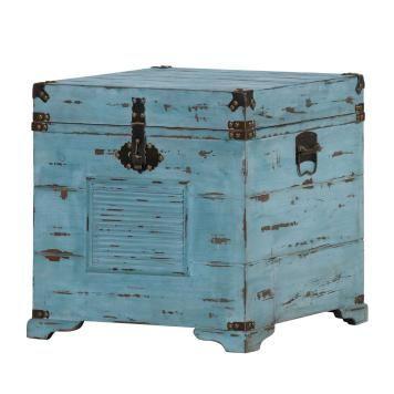 Truhe Chapalasee - Tanne massiv - Vintage blau | Körbe & Co ...