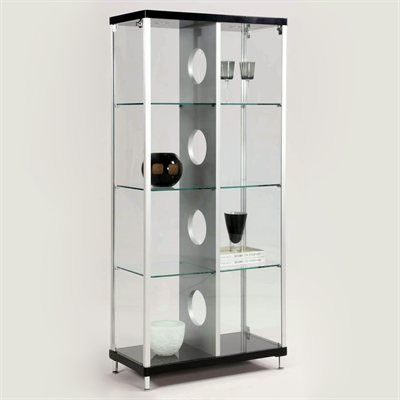 Chintaly Imports 6603 Cur Modern Glass Curio Cabinet Glass Cabinets Display Glass Curio Cabinets Curio Cabinet