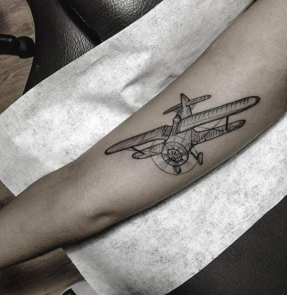 30 Amazing Airplane Tattoos For People Who Love To Travel Plane