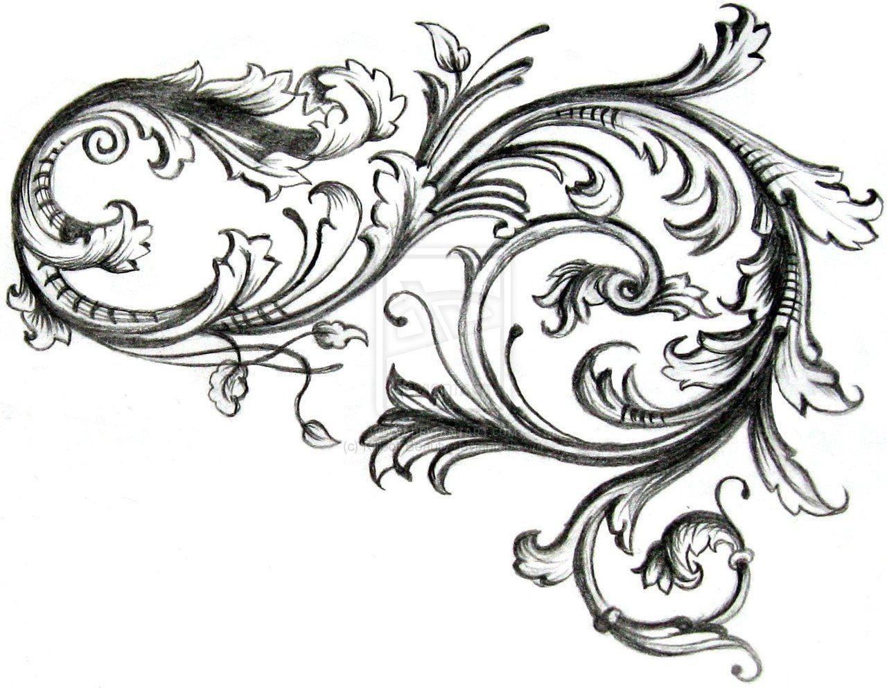 Scrollwork Filigree Tattoo Tattoo Sleeve Filler Tattoo Filler,Worst Pokemon Designs Gen 1