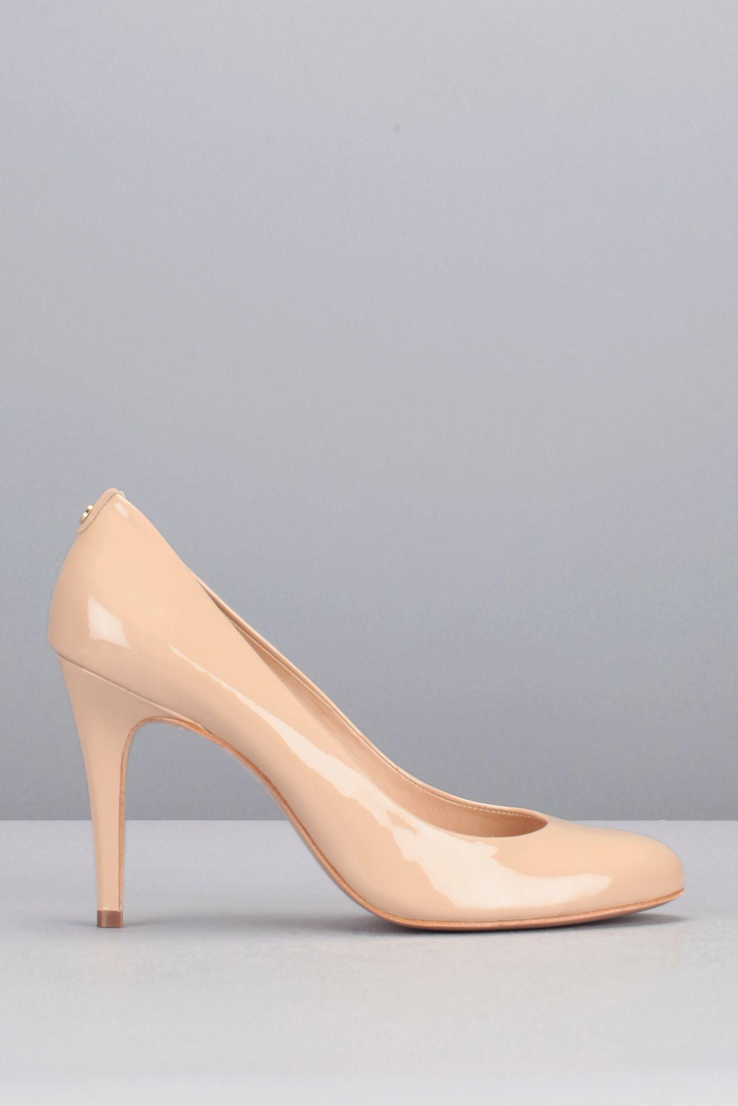 0410f576a3228e Escarpins nude cuir vernis Jelissa Rose Cosmoparis sur MonShowroom.com