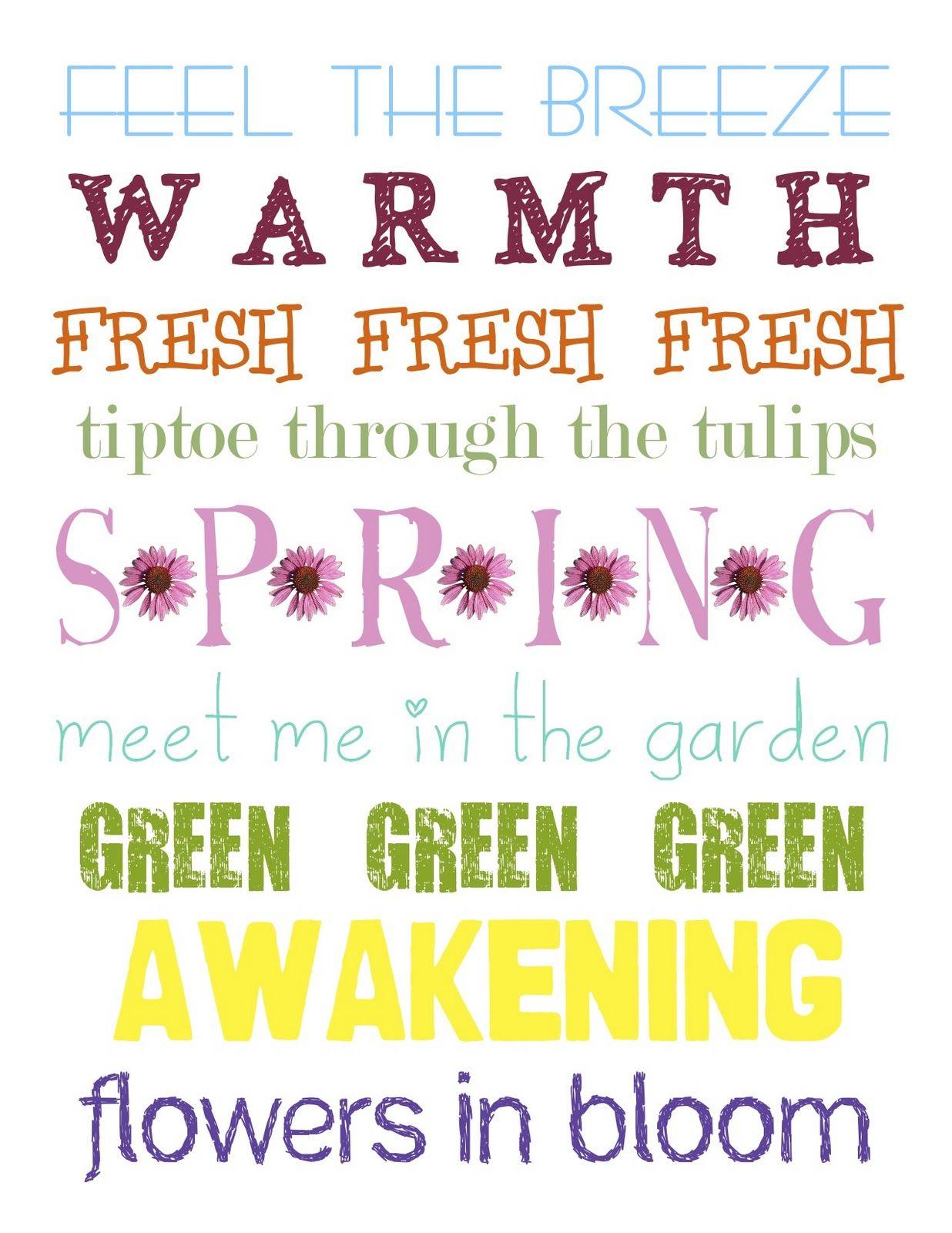 Free Spring Subway Art   crafts/DIY/printables   Pinterest   Subway ...