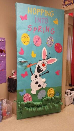 Classroom Door Decoration Spring ~ Our olaf easter spring door diy projects pinterest