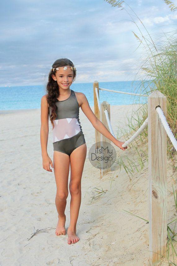 nude little girl in a swimsuit