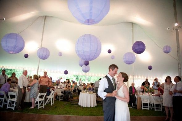 Do it yourself style backyard wedding tents linens and decorating purple wedding tent big tent in the backyard solutioingenieria Gallery