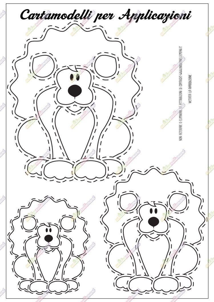 Cartamodello leone stampabili printable pinterest - Schemi animali stampabili ...