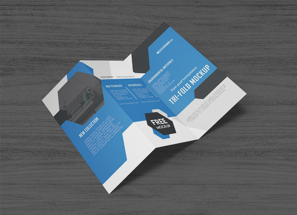 Free Tri Fold Brochure Mockup Psd Set Good Mockups Brochure Mockup Psd Trifold Brochure Book Cover Mockup