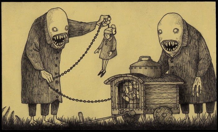 Wonderfully Creepy Monsters By Don Kenn Drawn Entirely On Post