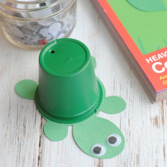 Stop Wasting Your Used K Cups This Upcycled K Cup Turtle Craft Is
