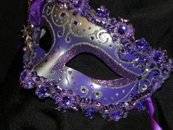 Shades of Purple Feather Masquerade Mask by TheCraftyChemist07