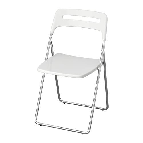Miraculous Ikea Nisse Folding Chair High Gloss White Chrome Plated Squirreltailoven Fun Painted Chair Ideas Images Squirreltailovenorg