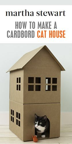 How To Make A Cardbord Cat House Cardboard Cat House Dog House Diy Cat House Diy