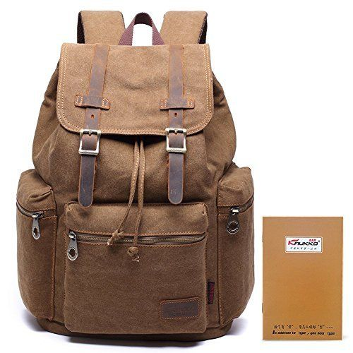 S-ZONE Vintage Crazy Horse Genuine Leather Backpack Multi Pockets Travel  Sports bag 262695dc4fbea
