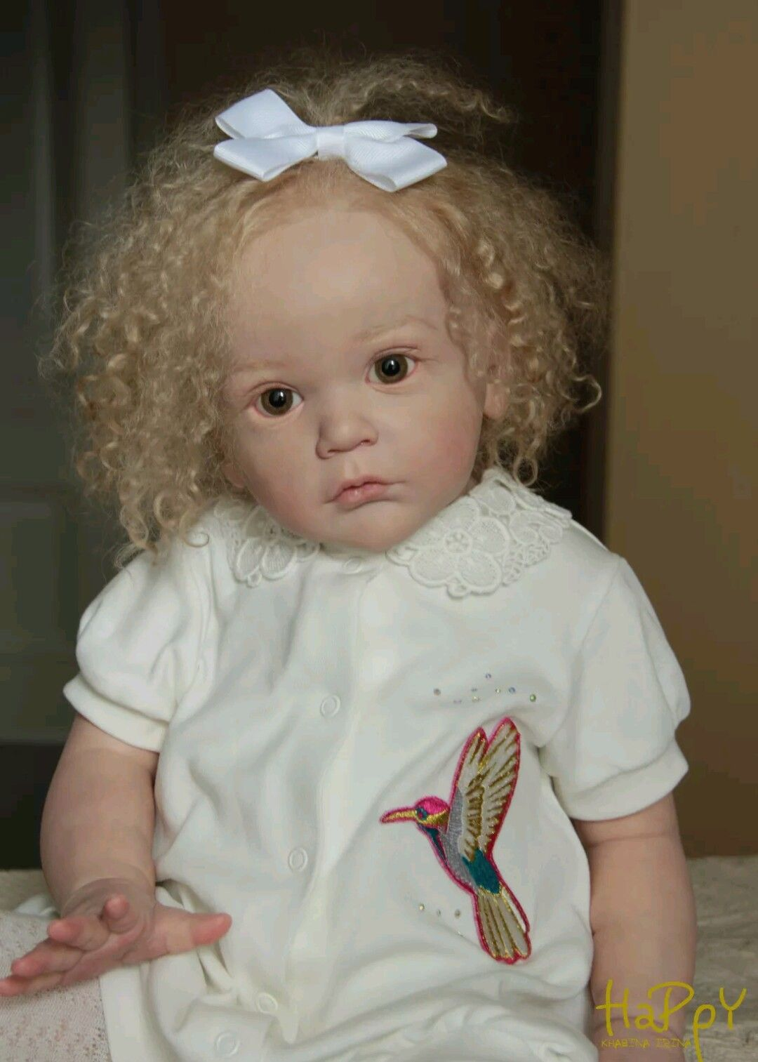 Reborn Mattia Kit She S A Toddler Girl With Blonde Curly Hair And