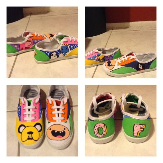 6ff9164811187 Adventure Time Shoes with Odd Future logo by PrettyOddArt on Etsy ...