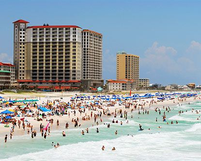 Pensacola Beach!!!! We went here in October last year, and it was so relaxing! Beautiful weather, beautiful waters and sugar like beaches! One of my favorite places to go with my boys!