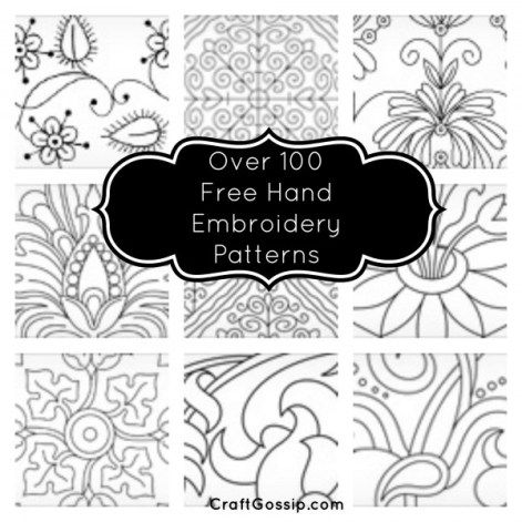 Needlenthread Have An Amazing List Of Free Hand Embroidery Patterns