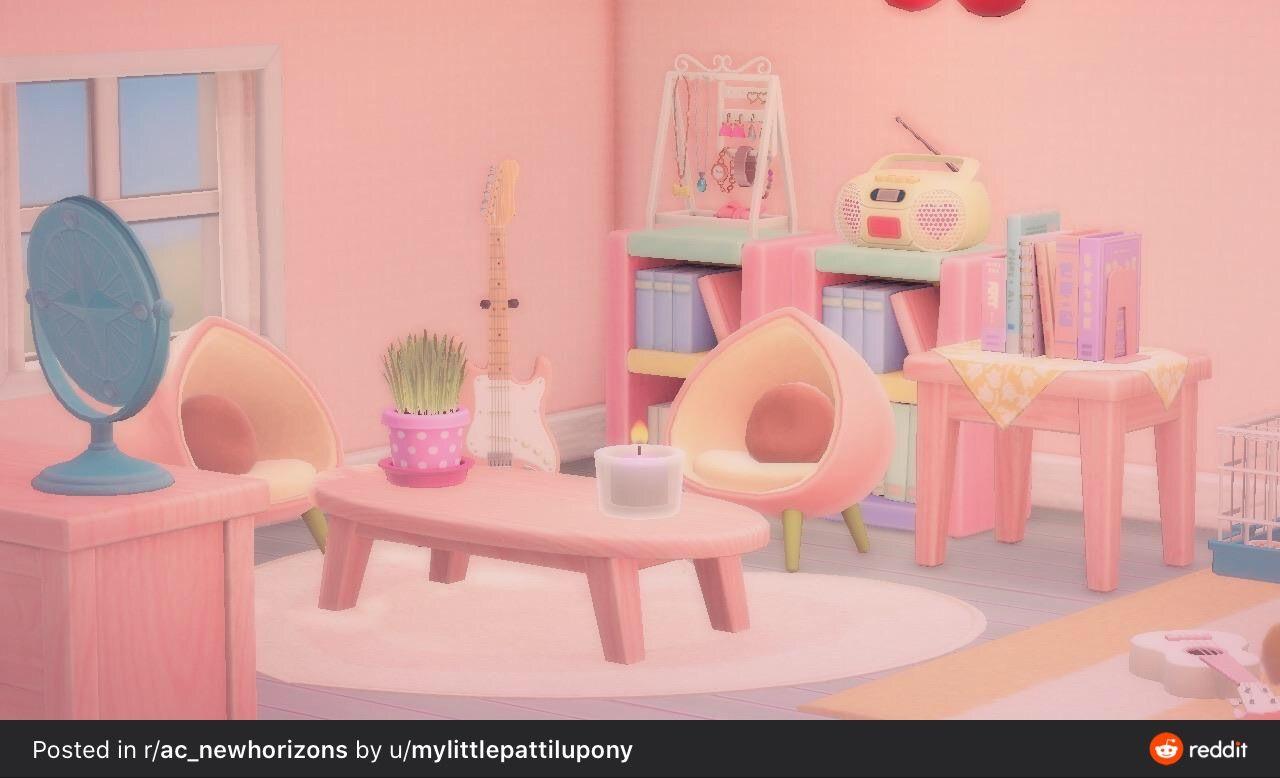 Animal Crossing New Horizons Pink Room Animal Crossing Game New Animal Crossing Animal Crossing Memes