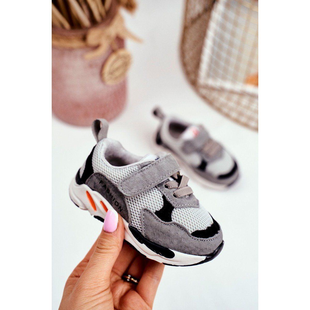 Apawwa Sportowe Buty Dzieciece Na Rzep Szare Yetto Baby Shoes Shoes Fashion