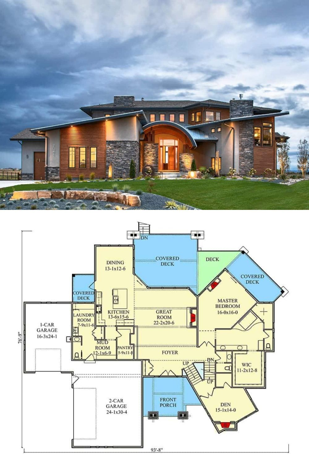 5 Bedroom Two Story Contemporary Home With A Bar Floor Plan Contemporary House Plans Contemporary House House Plans