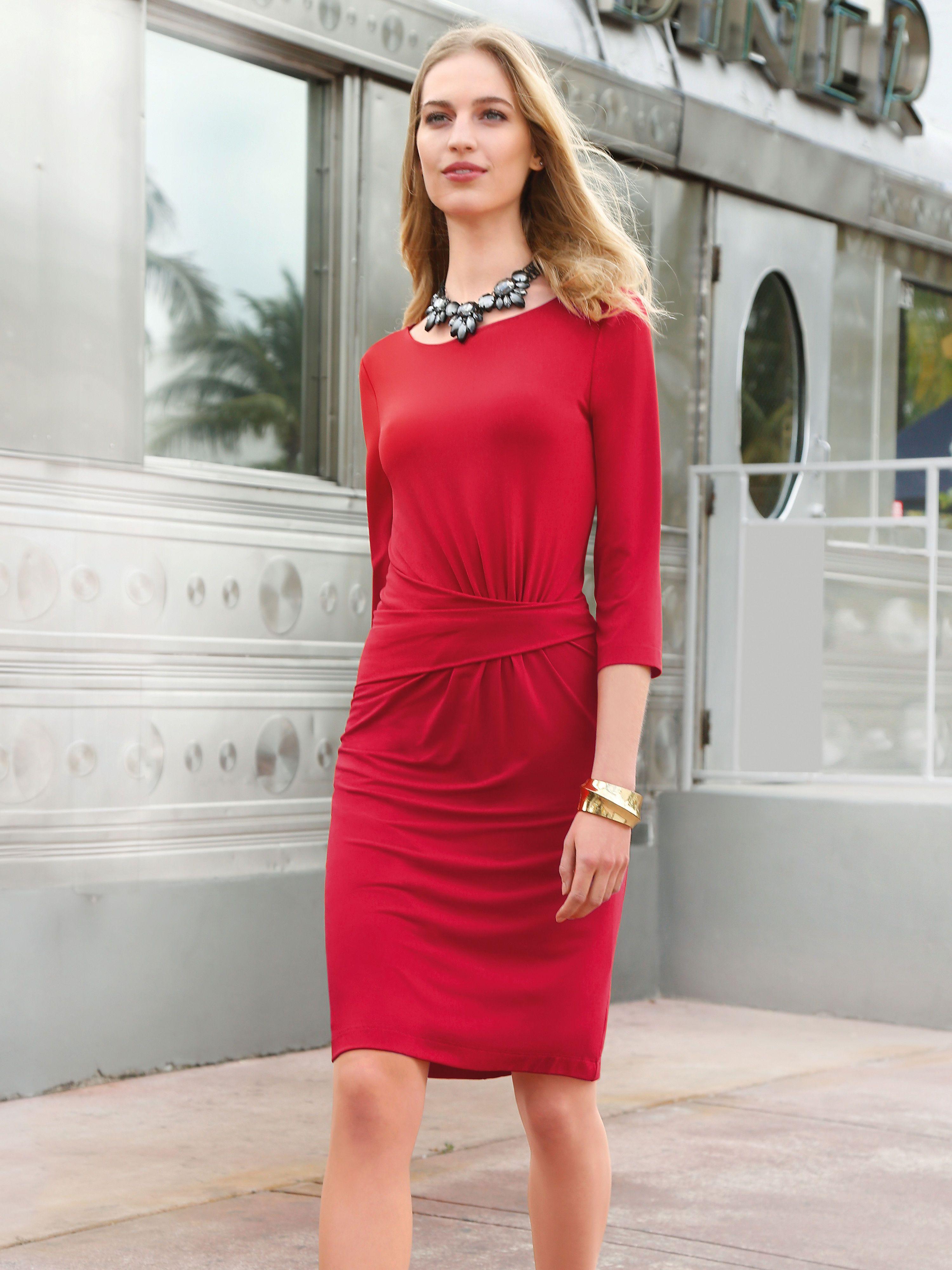 Uta Raasch JerseyKleid 3 4-Arm rot   Kleider   Pinterest   Beige aa760d5827
