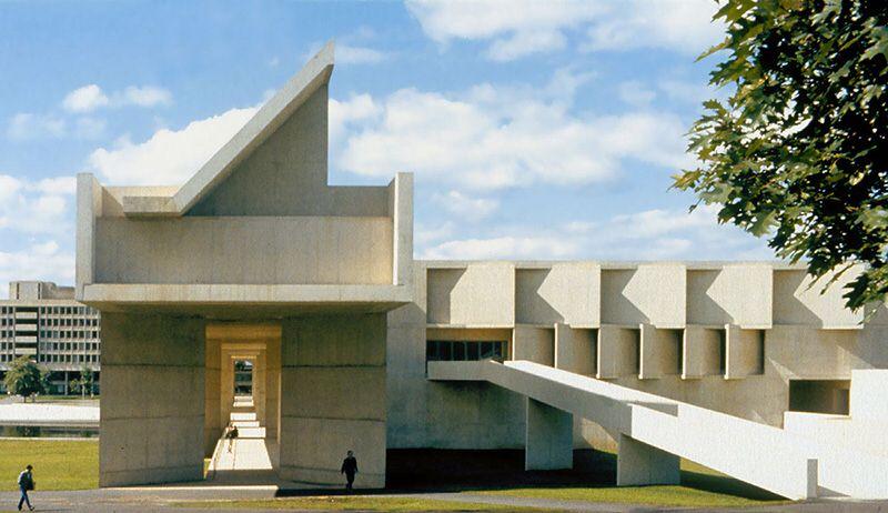 Aetna Headquarters Fine arts center, Brutalist