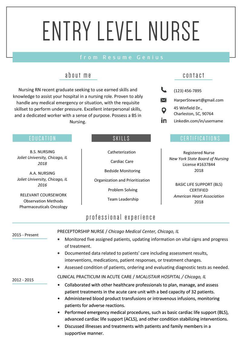 Resume Template for Nursing Interesting Entry Level Nurse