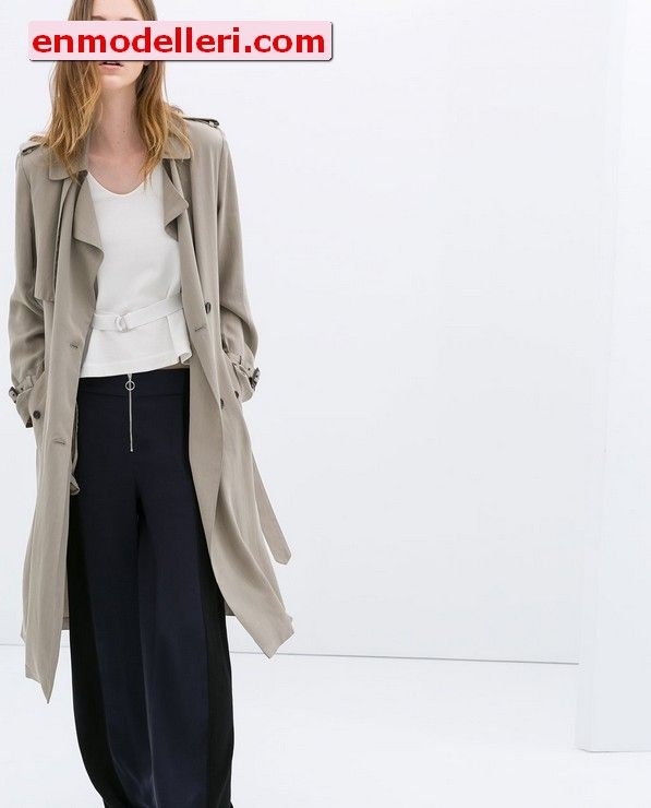 Trenchcoat Bayan Zara Google Da Ara Stil Manto