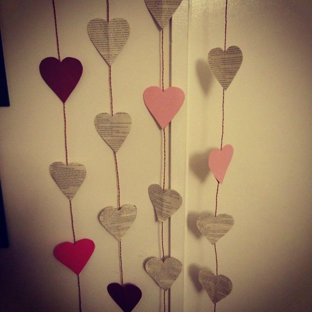 """The magical book page paper hearts i made my love for Valentine's day this year   #hearts #papercrafts #cute #bookcrafts #love #valentine"""