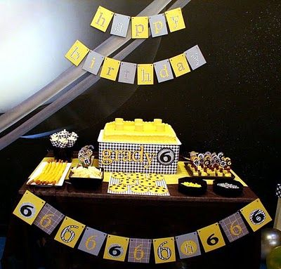 Lego Birthday Party- With Houndstooth Accents - Kara's Party Ideas - The Place for All Things Party