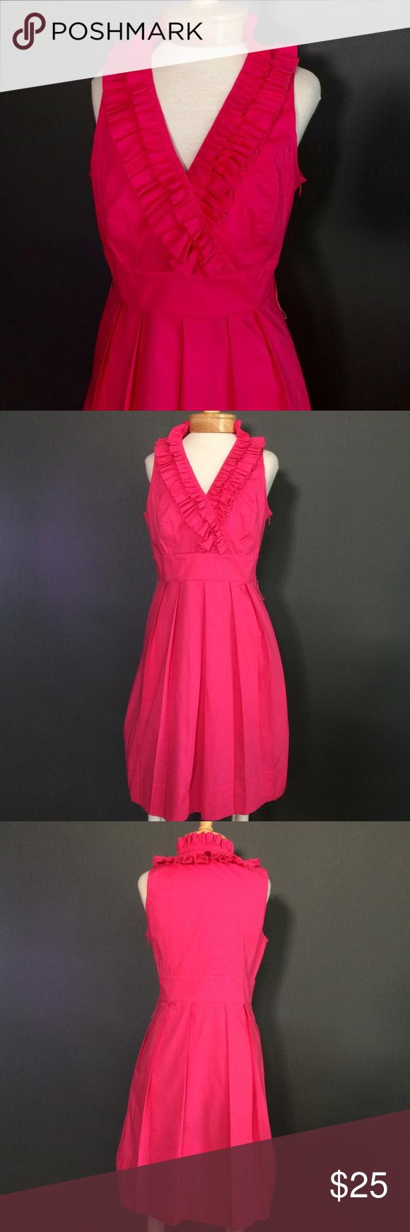Hot pink color dress  White House  Black Market hotpink dress size  Hotpink sundress