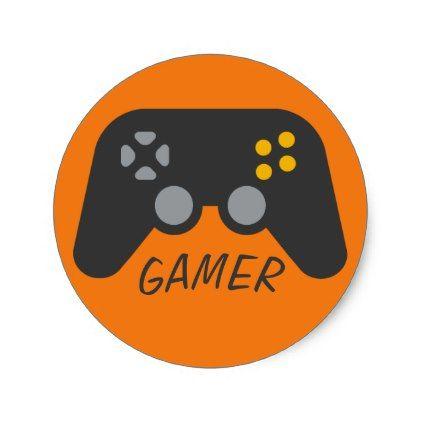 Text Template Gamer Controller Emoji Classic Round Sticker Emoji Emojis Smiley Smilies Round Stickers Emoji Stickers