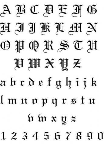 Letras Para Tatuajes De Nombres Letras Para Tatuajes Letras Medievales Letras Goticas Cursivas