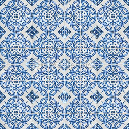 Good pattern for dollhouse tiles.  Seamless tile pattern — Stock Photo © homydesign #4943886