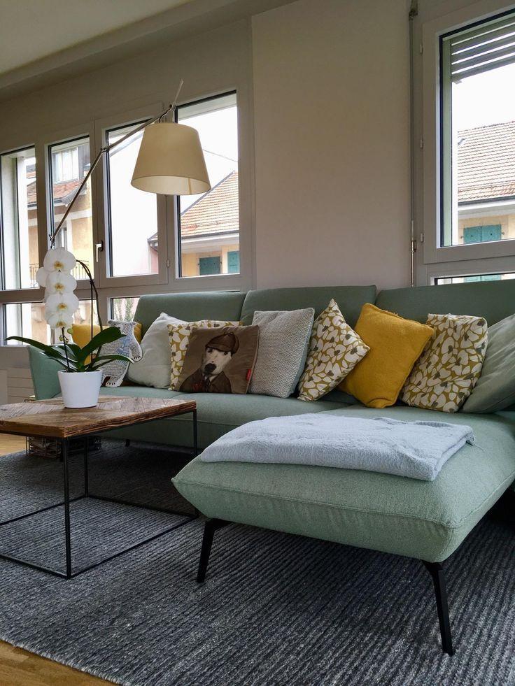 Couch Mint Senfgelb Check More At Https Frida Uzum Site Couch Senfgelb Min Living Room Decor Neutral Glamour Living Room