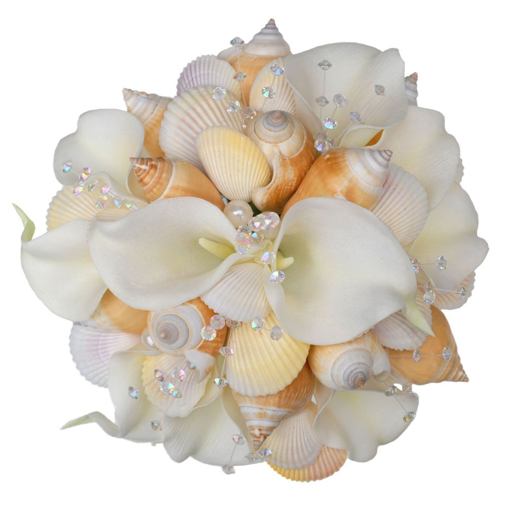 Alternative ideas for your bridal bouquet shell bouquet bridal wedding shell bouquet izmirmasajfo