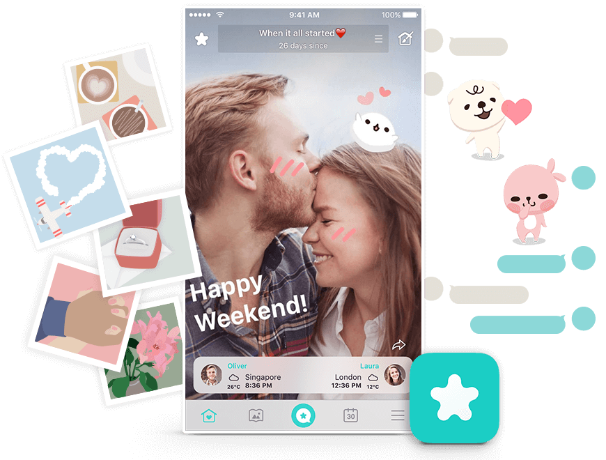 Between is a mobile app for couples in love! Chat, share photos and schedules in a private space just for two. Start now and collect all the moments in your relationship.