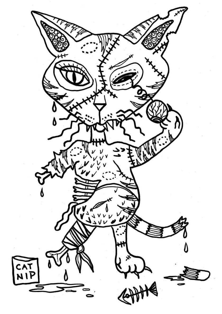 81 Cats And Kittens Coloring Pages For Kids More Printable Pictures On Babyhouse Info Zombie Cat Free Free Coloring Pages Coloring Pages Kittens Coloring [ 1188 x 840 Pixel ]