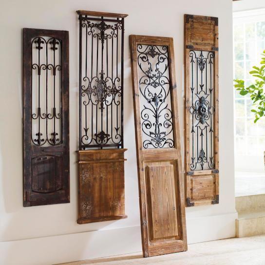 distressed window decor vintage gates artwork antique metal decor crafts and wooden frames
