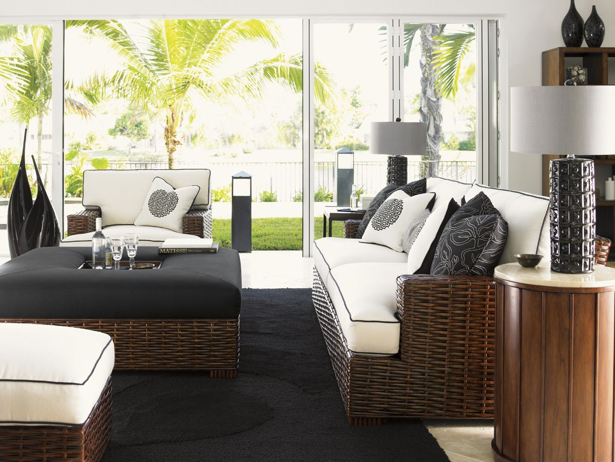 Ocean Club Fiji Drum Table Lexington Home Brands Furniture Living Room Collections