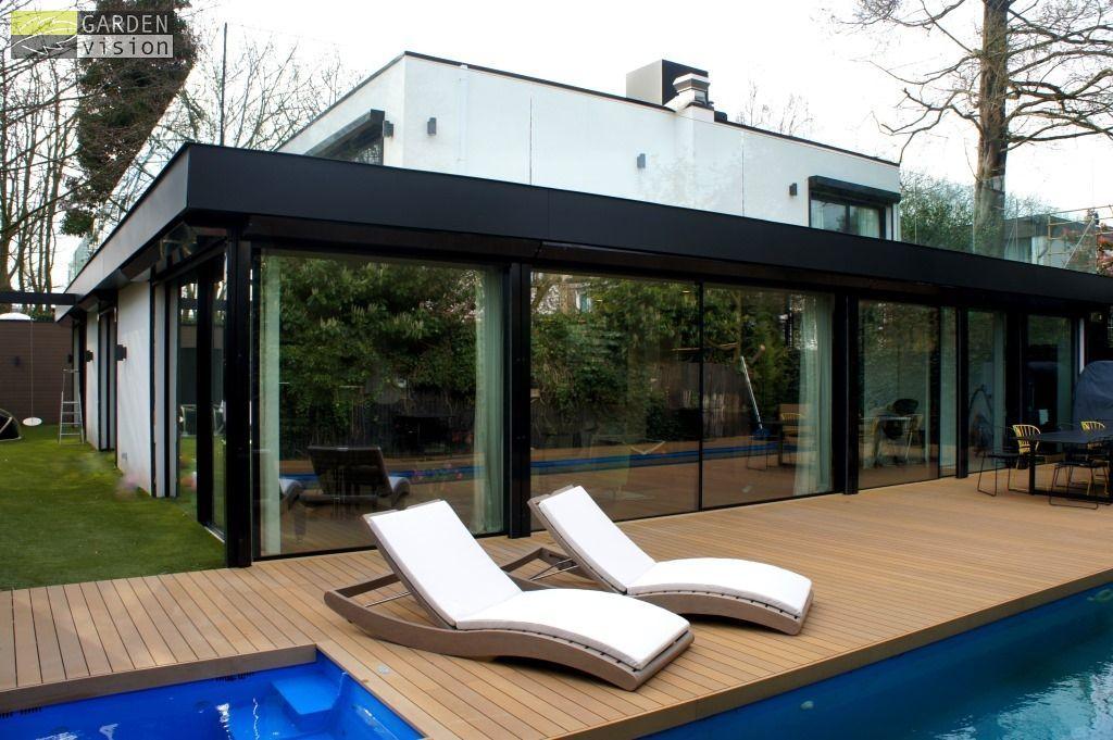 Moderne stadstuin in amsterdam met zwembad esthec vlonder