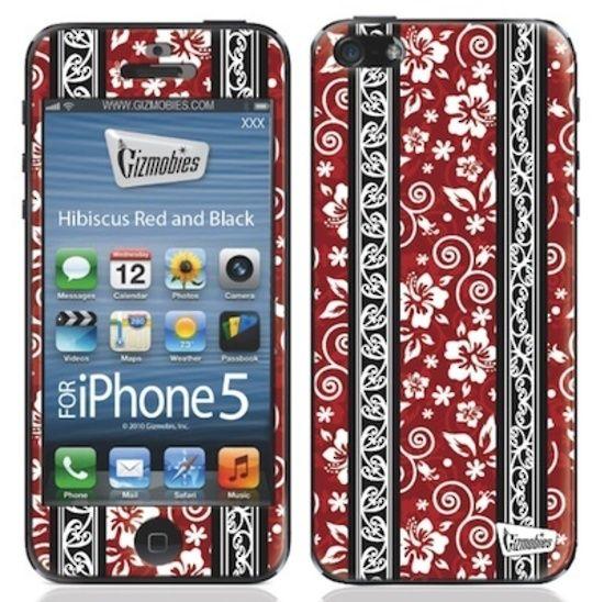 Hibiscus Red & Black Skin for iPhone 5 $24.95AU